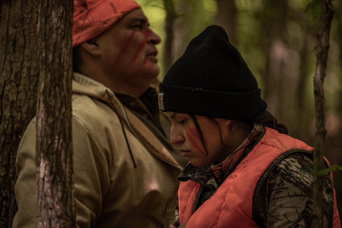 """RESERVATION DOGS """"Hunting"""" Episode 6 (Airs, Monday, September 6) Pictured: (l-r) Jon Proudstar as Leon, Paulina Alexis as Willie Jack. CR: Shane Brown/FXCopyright 2021, FX Networks. All rights reserved."""