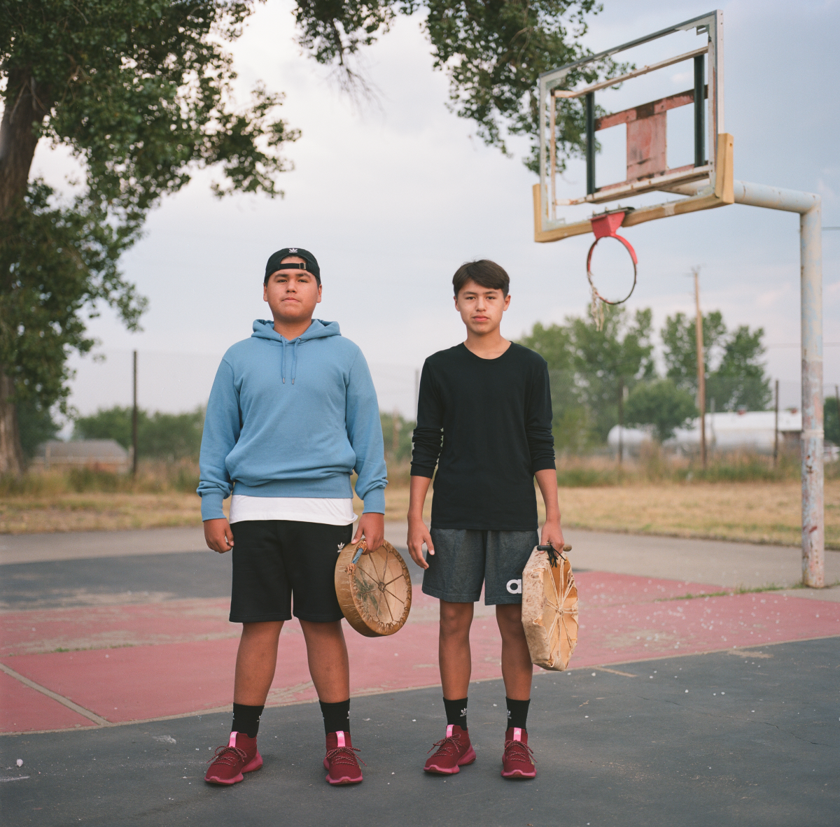 Lance Bradley, 15 and his brother George Bradley, 14, Traditional Singers. (Photo: Brian Adams