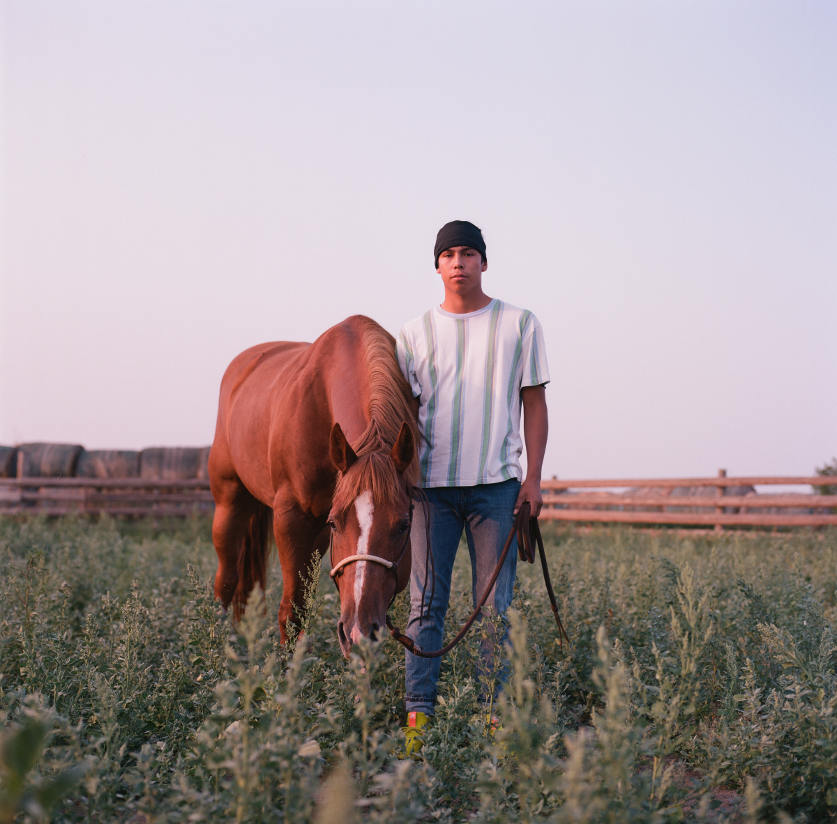 Maize Two Bears, 16 - Skateboarder, Horse Rider, and Rodeo Bull Rider. (Photo: Brian Adams)