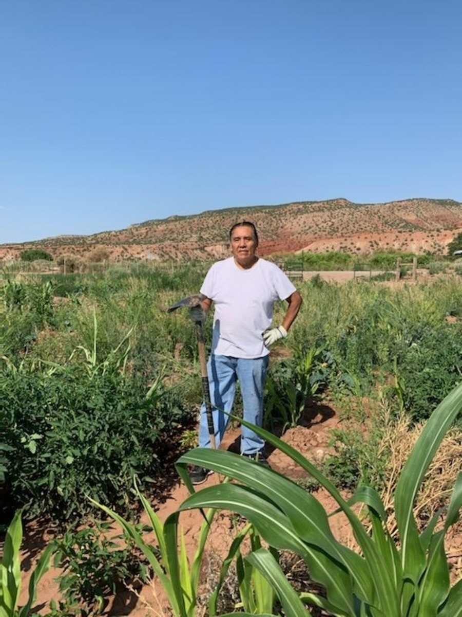 Joseph Brophy Toledo, Jemez Pueblo, a traditional leader and Flower Hill Institute cultural advisor who works with youths, spreads the word that the corn should be protected. (Photo courtesy of Josephy Brophy Toledo)