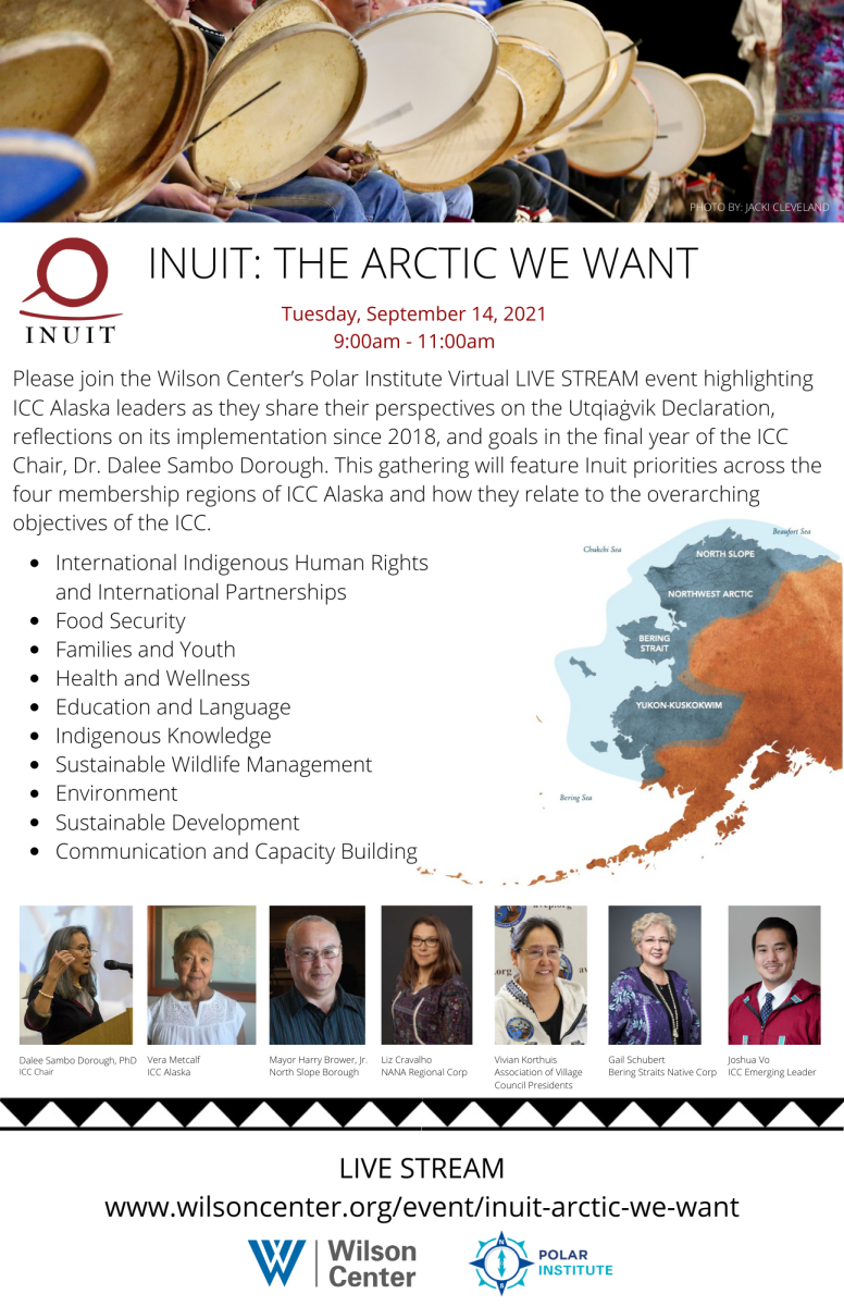 Wilson Center ICC Virtual Event .. INUIT - The Arctic We Want - graphic