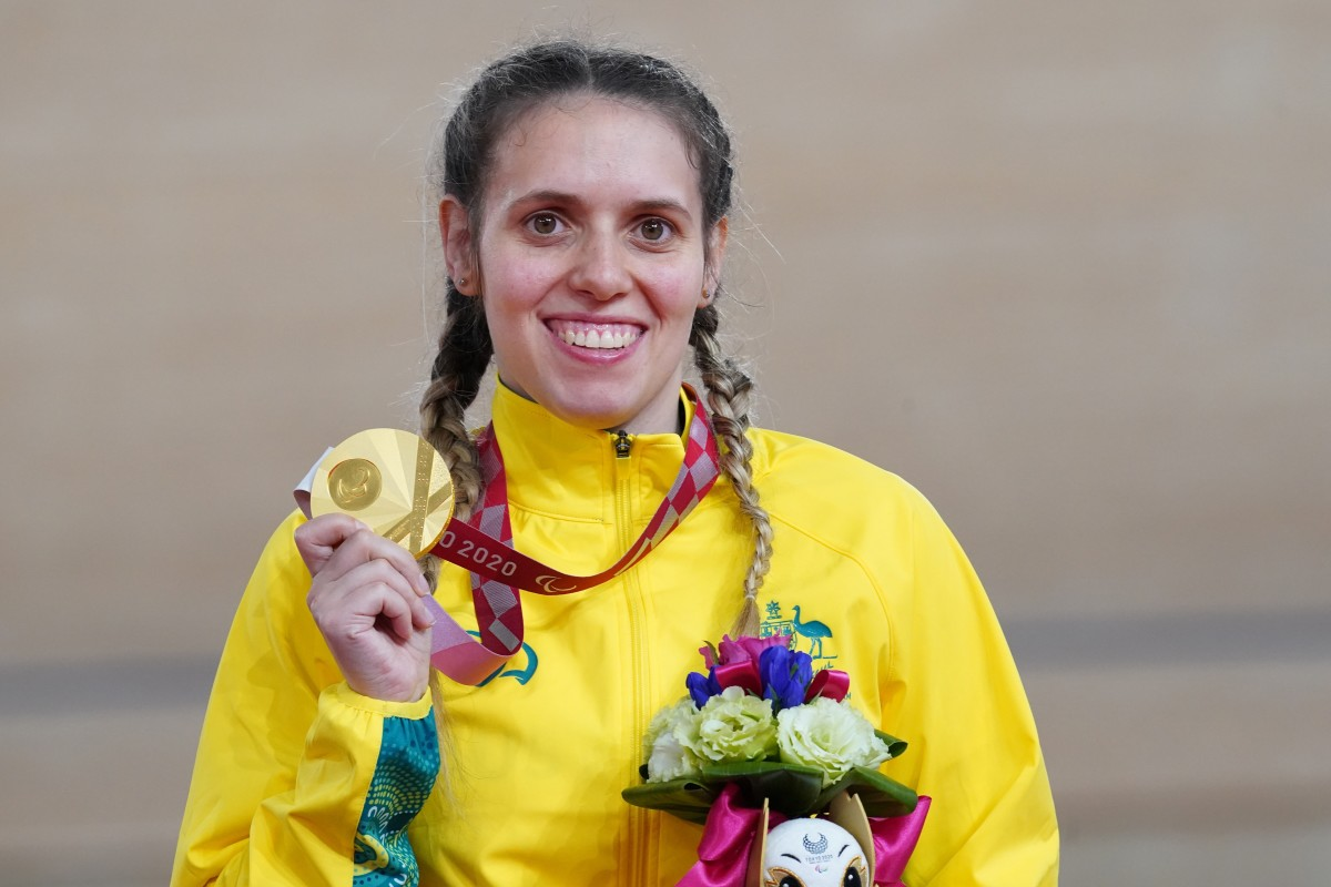 Indigenous athlete Amanda Reid of Australia broke her own world record to win a gold medal in track cycling at the Tokyo Paralympics, which ran from Aug. 24-Sept. 5, 2021. Reid, Guring-gai and Wemba Wemba, is a three-time Paralympian. (Photo courtesy of Australia Paralympics)